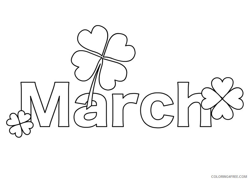 March Coloring Pages Shamrock March Printable 2021 3971 Coloring4free