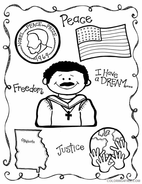 Martin Luther King Coloring Pages Martin Luther King Jr Worksheets Printable  2021 Coloring4free - Coloring4Free.com
