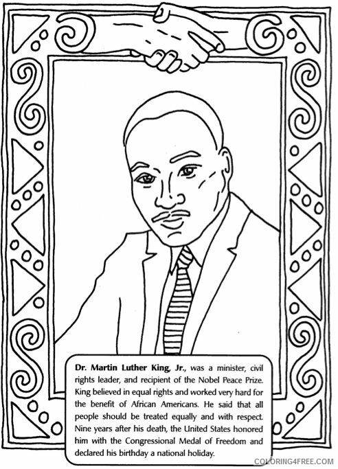 Martin Luther King Coloring Pages Martin Luther King Worksheet Print 2021  3993 Coloring4free - Coloring4Free.com