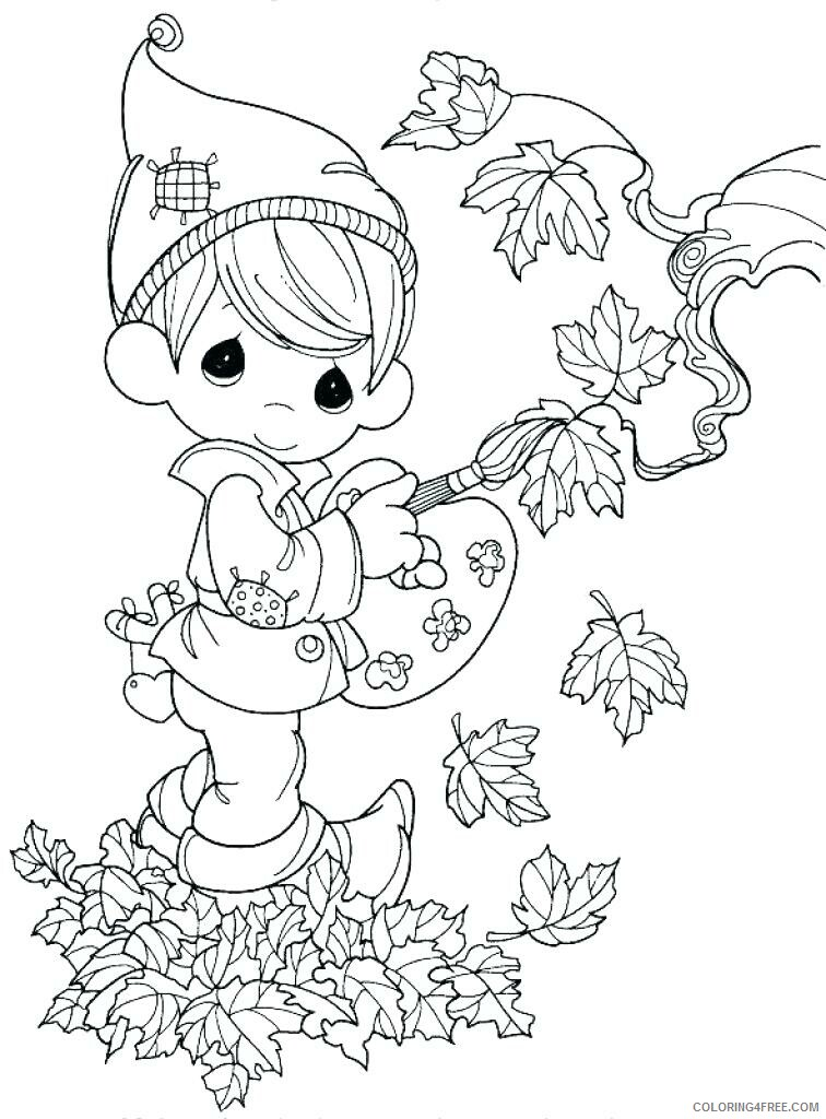 Precious Moments Coloring Pages Mothers Day Inside Book Printable 2021 4722  Coloring4free - Coloring4Free.com