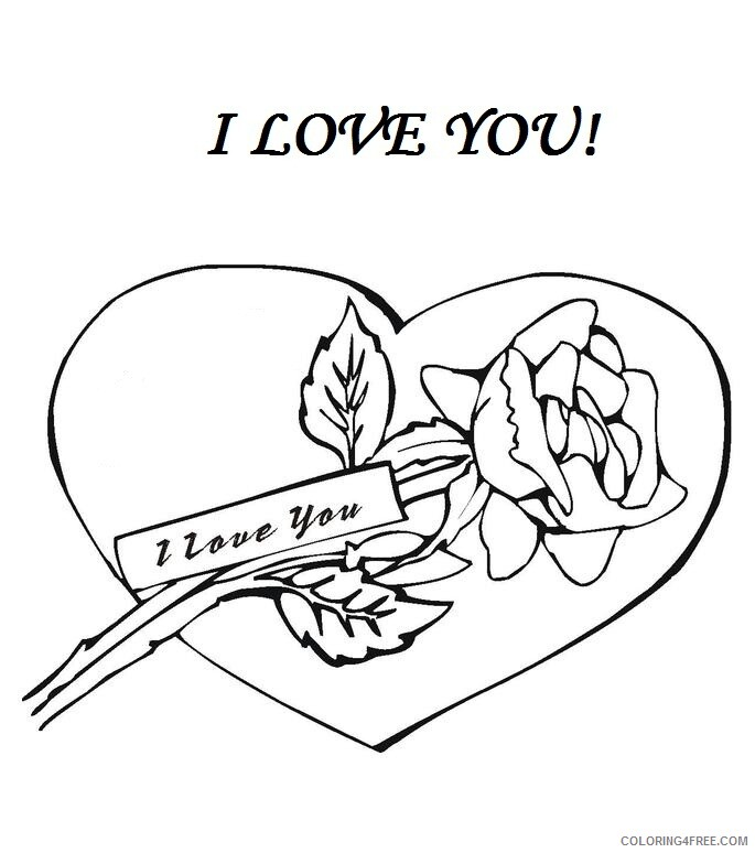 Rose And Heart Coloring Pages I Love You Roses And Hearts Printable 2021  5119 Coloring4free - Coloring4Free.com