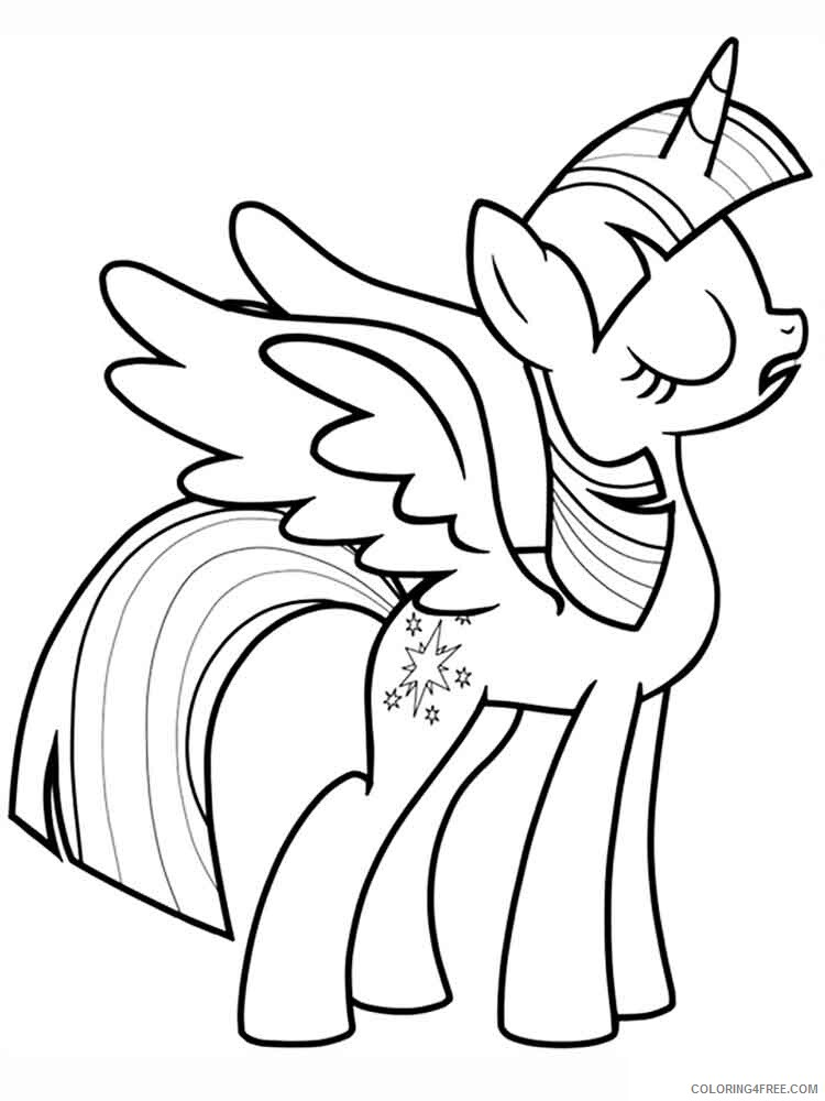 Twilight Sparkle Coloring Pages Twilight Sparkle 5 Printable 2021 5995  Coloring4free - Coloring4Free.com