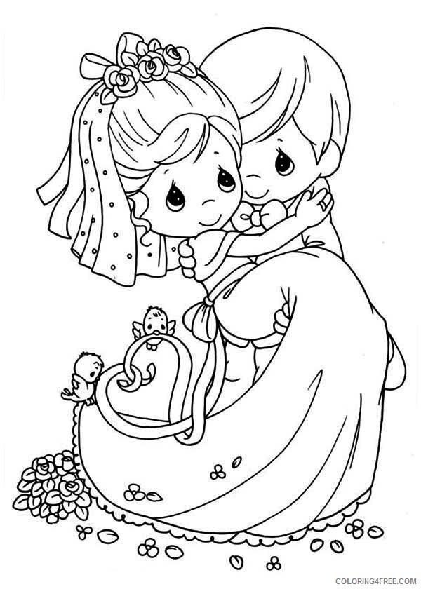 Wedding Coloring Pages Precious Wedding Printable 2021 6264 Coloring4free -  Coloring4Free.com