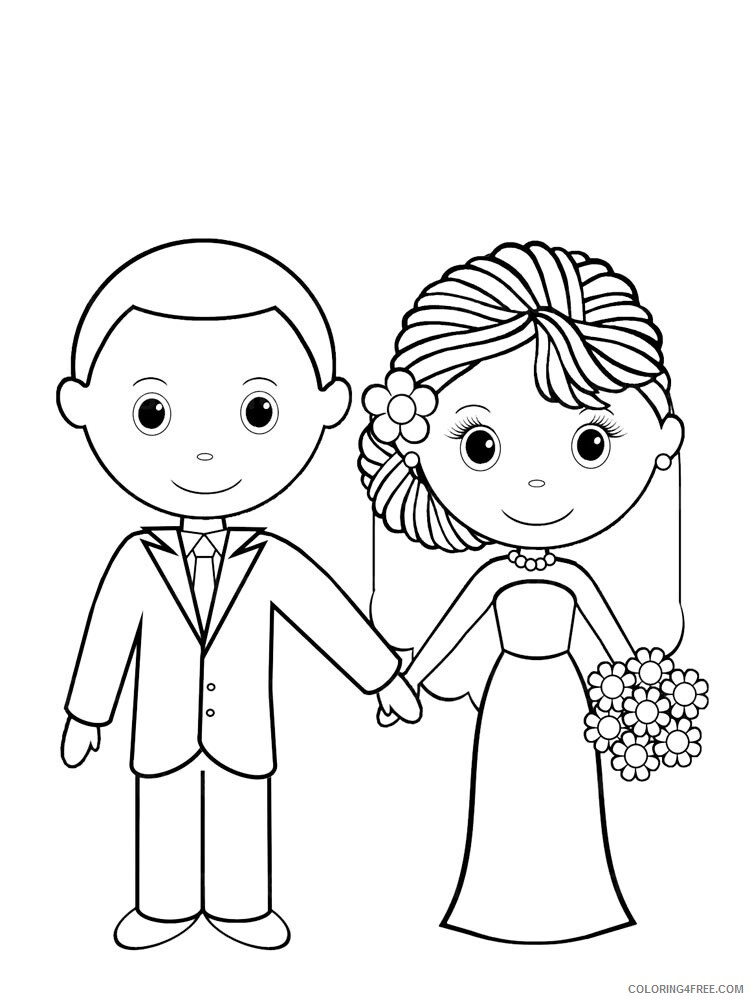 Wedding Coloring Pages Wedding 2 Printable 2021 6268 Coloring4free -  Coloring4Free.com