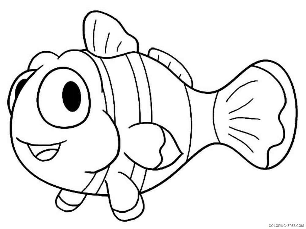 Clownfish Coloring Pages Animal Printable Sheets Clownfish 2 2021 1096 Coloring4free