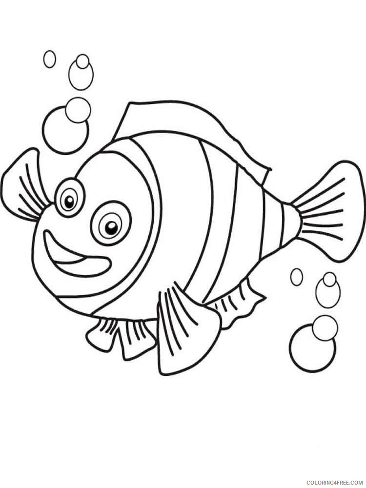 Clownfish Coloring Pages Animal Printable Sheets Clownfish 7 2021 1099 Coloring4free