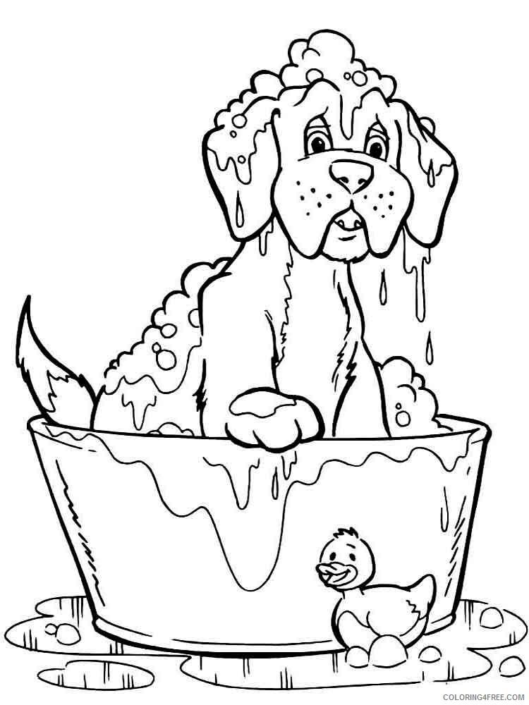 Dogs Coloring Pages Animal Printable Sheets animals dogs 31 2021 1525 Coloring4free