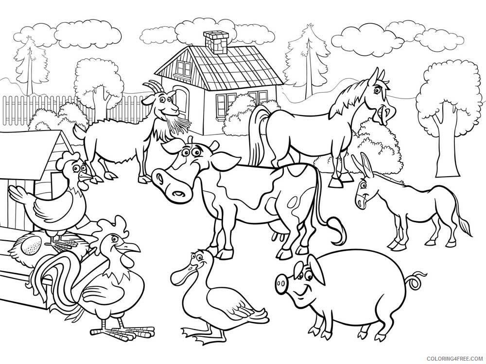 Farm Animal Coloring Pages Animal Printable Sheets Farm Animal 7 2021 2028 Coloring4free