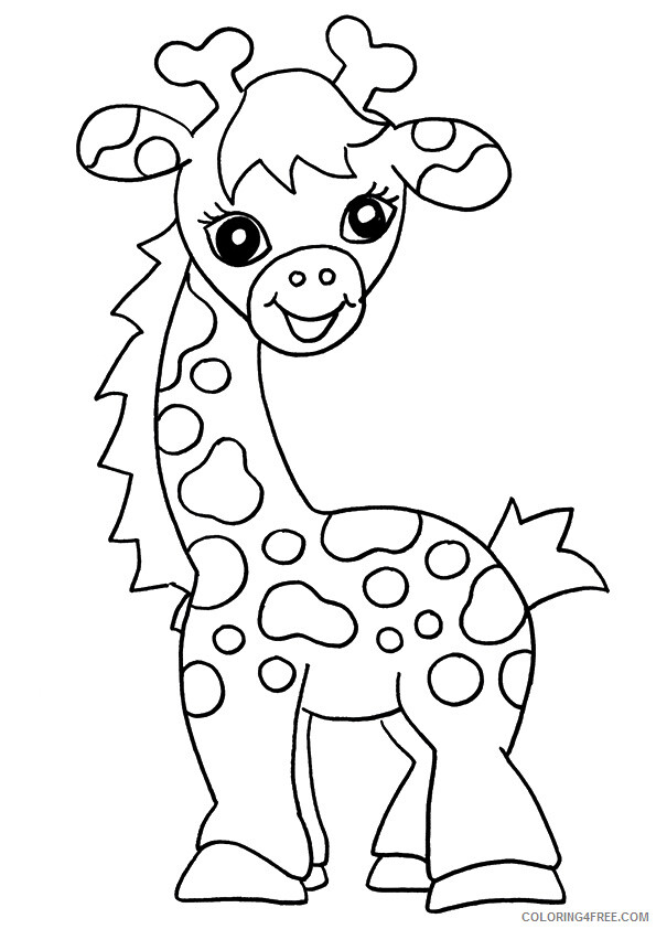 Giraffe Coloring Sheets Animal Coloring Pages Printable 2021 1989  Coloring4free - Coloring4Free.com