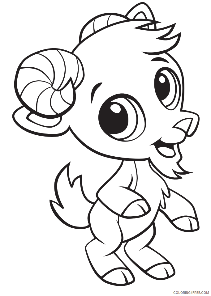 Goat Coloring Pages Animal Printable Sheets Goat 2021 2432 Coloring4free -  Coloring4Free.com