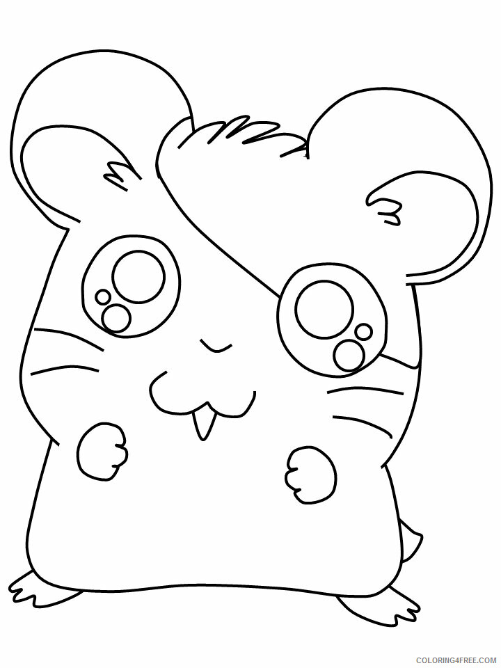 Hamster Coloring Pages Animal Printable Sheets 5 2021 2558 Coloring4free