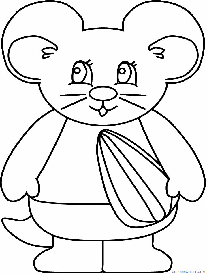 Hamster Coloring Pages Animal Printable Sheets hamster ...