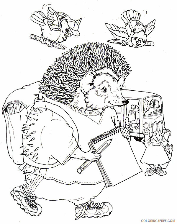 Hedgehog Coloring Pages Animal Printable Sheets Student Hedgehog 2021 2649 Coloring4free