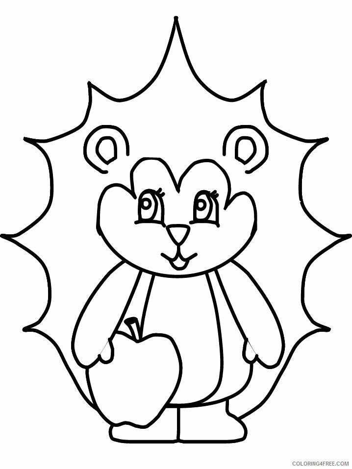 Hedgehog Coloring Pages Animal Printable Sheets hedgehog 2021 2635 Coloring4free