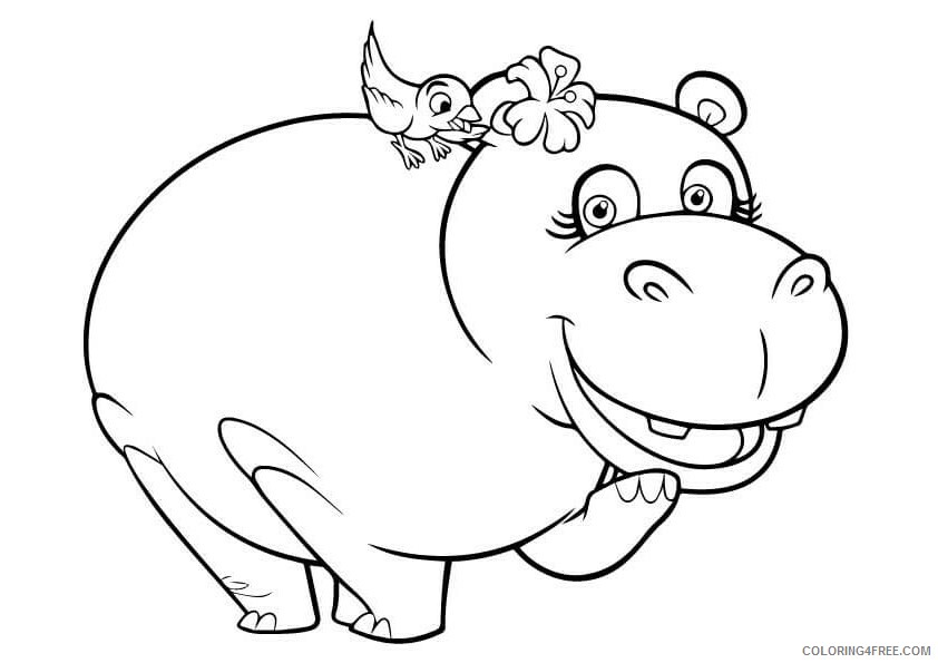 Hippo Coloring Sheets Animal Coloring Pages Printable 2021 2324 Coloring4free