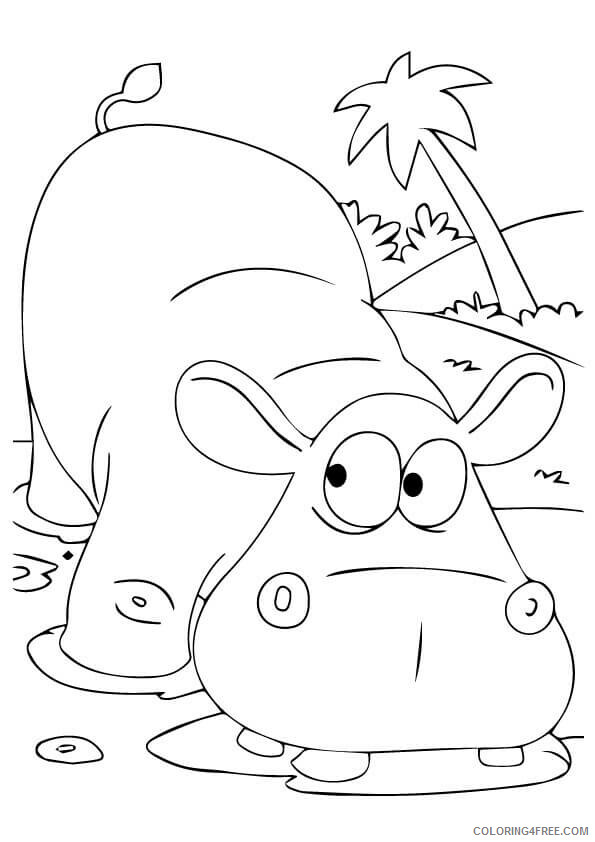 Hippo Coloring Sheets Animal Coloring Pages Printable 2021 2336 Coloring4free