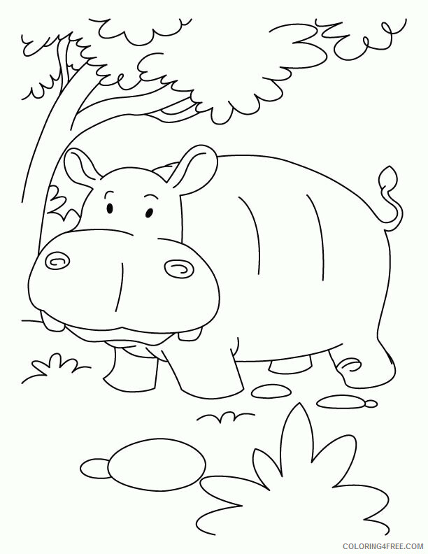 Hippo Coloring Sheets Animal Coloring Pages Printable 2021 2349 Coloring4free