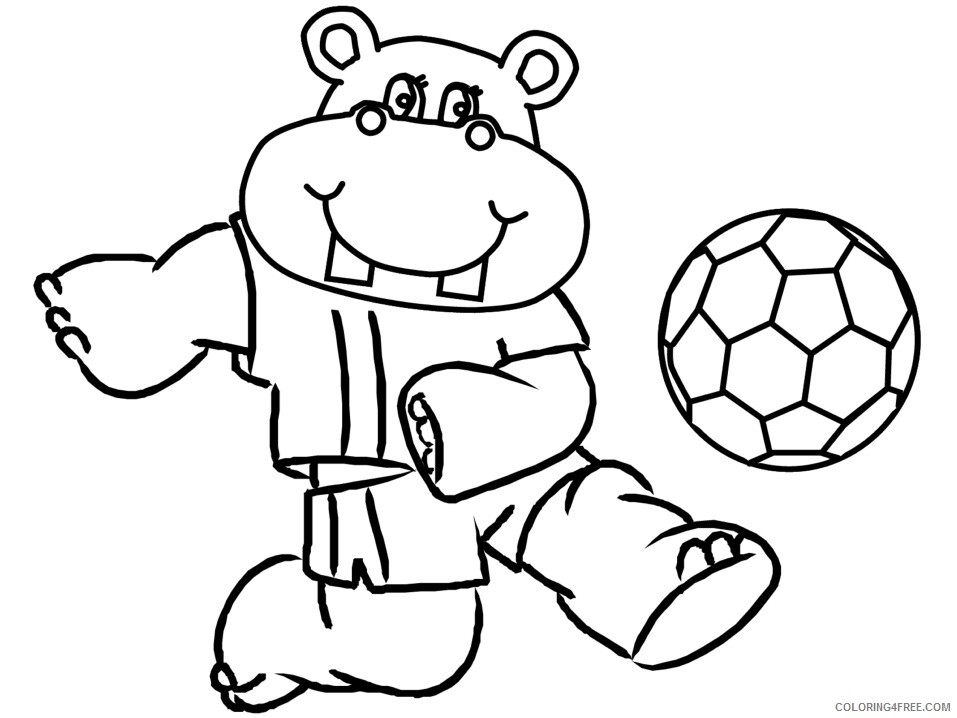Hippo Coloring Sheets Animal Coloring Pages Printable 2021 2355 Coloring4free