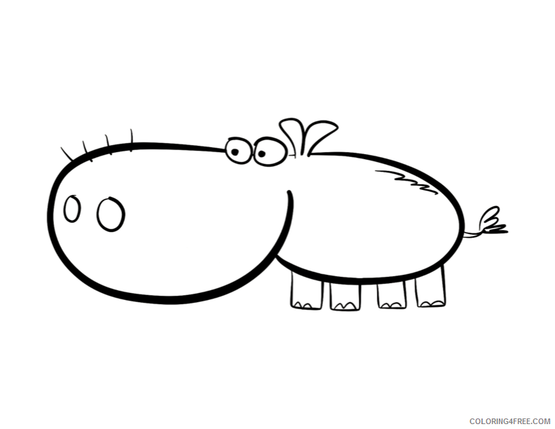 Hippo Coloring Sheets Animal Coloring Pages Printable 2021 2359 Coloring4free
