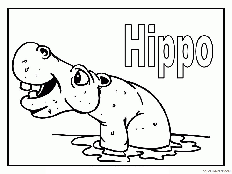 Hippo Coloring Sheets Animal Coloring Pages Printable 2021 2362 Coloring4free