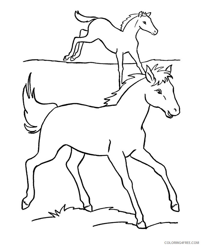 Horse Coloring Sheets Animal Coloring Pages Printable 2021 2373  Coloring4free - Coloring4Free.com