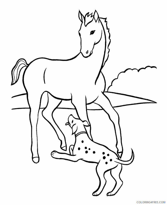 Horse Coloring Sheets Animal Coloring Pages Printable 2021 2380 Coloring4free