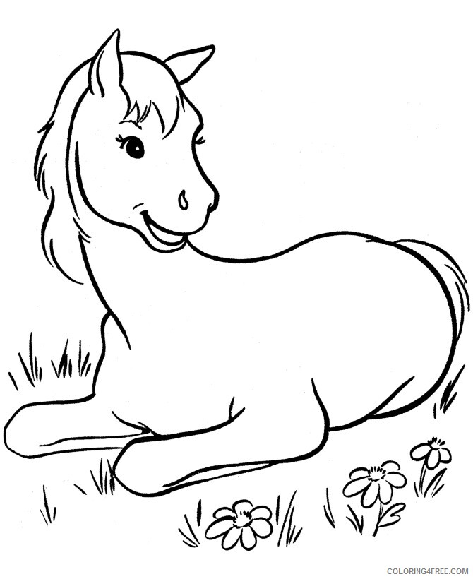 Horse Coloring Sheets Animal Coloring Pages Printable 2021 2388 Coloring4free