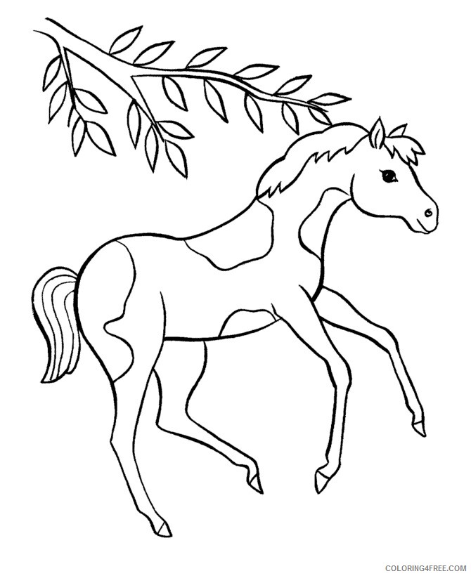 Horse Coloring Sheets Animal Coloring Pages Printable 2021 2389  Coloring4free - Coloring4Free.com