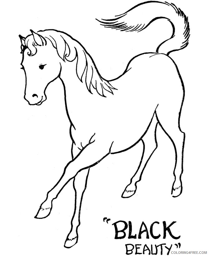 Horse Coloring Sheets Animal Coloring Pages Printable 2021 2400 Coloring4free