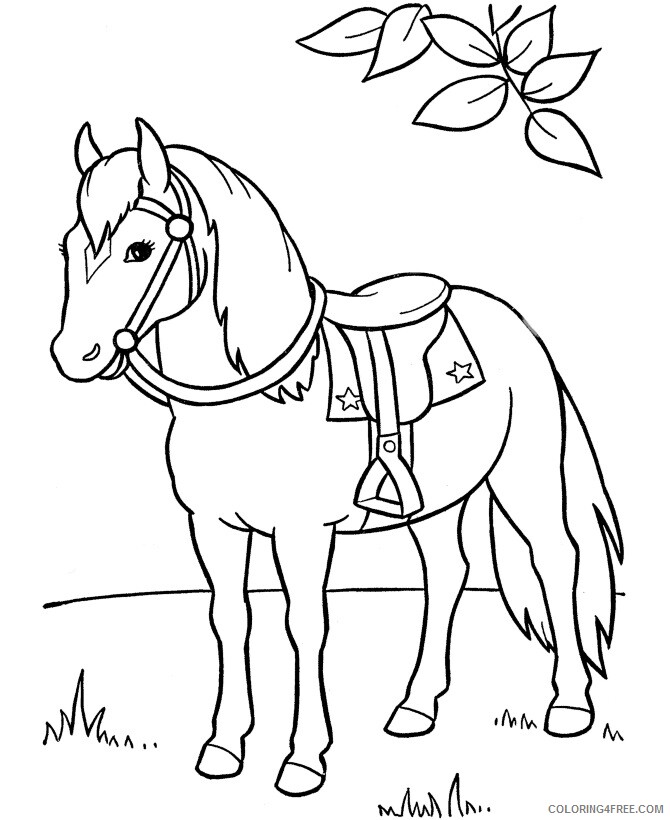 Horse Coloring Sheets Animal Coloring Pages Printable 2021 2415 Coloring4free