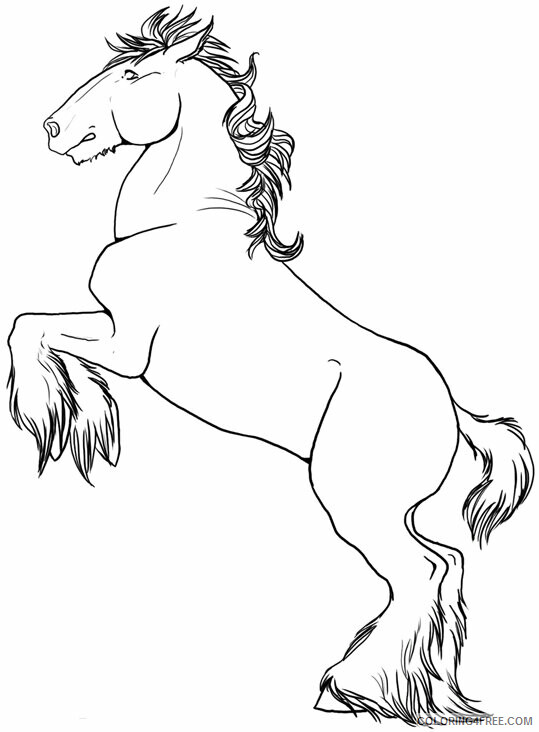 Horse Coloring Sheets Animal Coloring Pages Printable 2021 2419 Coloring4free