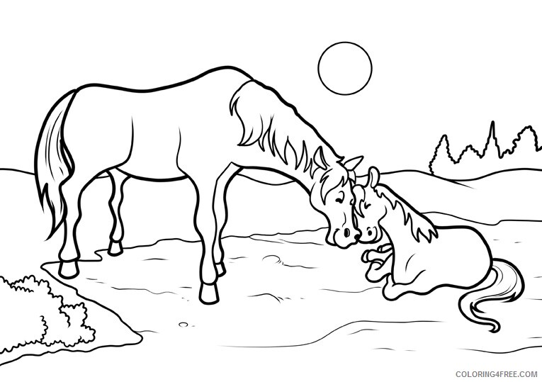 Horse Coloring Sheets Animal Coloring Pages Printable 2021 2423 Coloring4free
