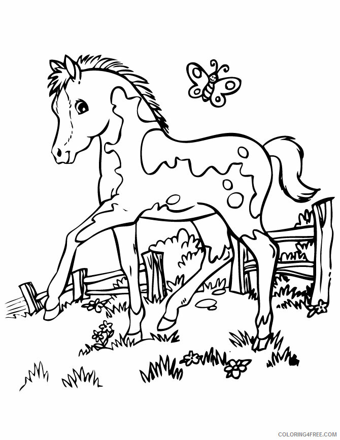Horse Coloring Sheets Animal Coloring Pages Printable 2021 2426 Coloring4free