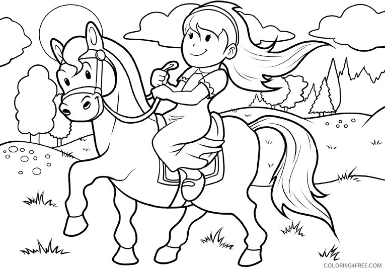 Horse Coloring Sheets Animal Coloring Pages Printable 2021 2446 Coloring4free