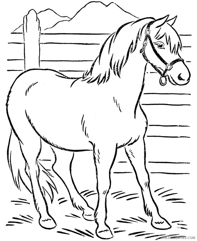 Horse Coloring Sheets Animal Coloring Pages Printable 2021 2450 Coloring4free