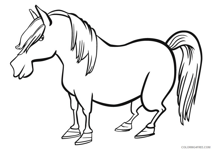 Horse Coloring Sheets Animal Coloring Pages Printable 2021 2482 Coloring4free