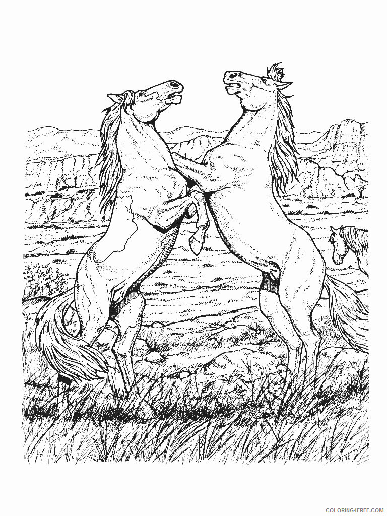 Horses Coloring Pages Animal Printable Sheets Horse 2021 2737 Coloring4free
