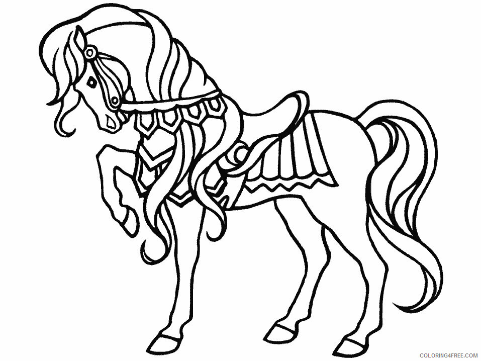 Horses Coloring Pages Animal Printable Sheets Horse 2021 2762 Coloring4free