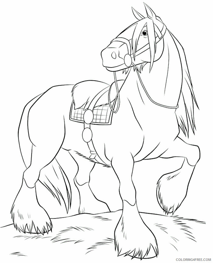 Horses Coloring Pages Animal Printable Sheets Horse For Girls 2021 2763 Coloring4free