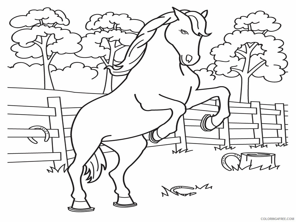 Horses Coloring Pages Animal Printable Sheets Printable of Horses 2021 2804 Coloring4free