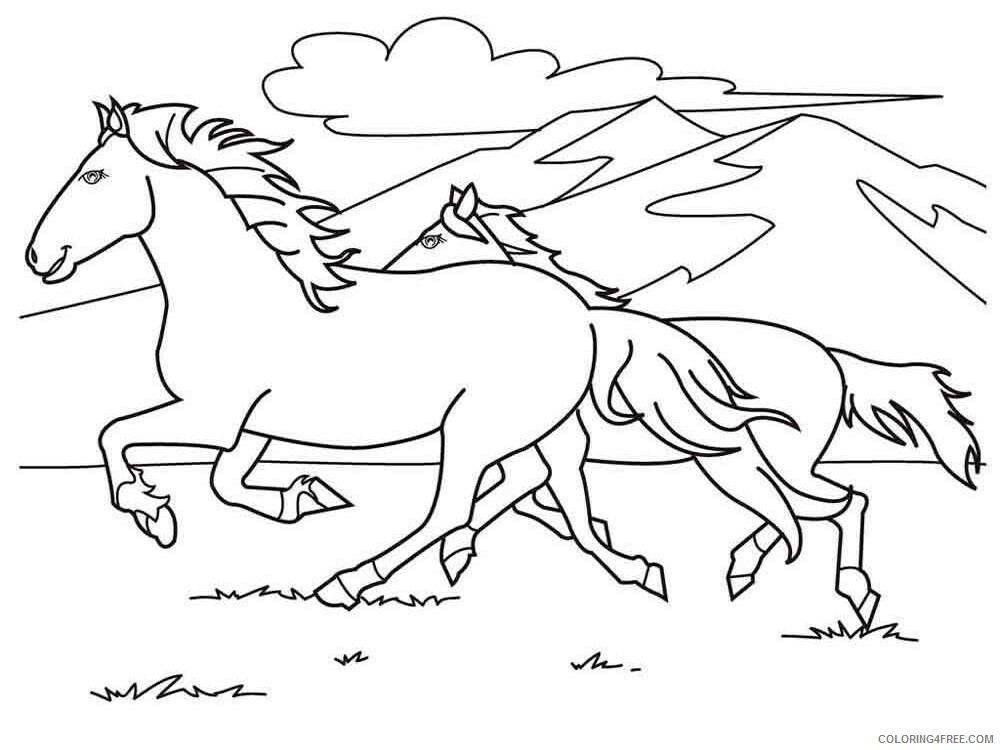 Horses Coloring Pages Animal Printable Sheets animals horse 27 2021 2732 Coloring4free