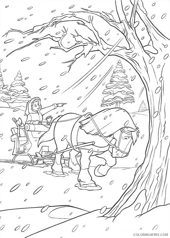 Horses Coloring Pages Animal Printable Sheets bella and horse in the winter 2021 Coloring4free