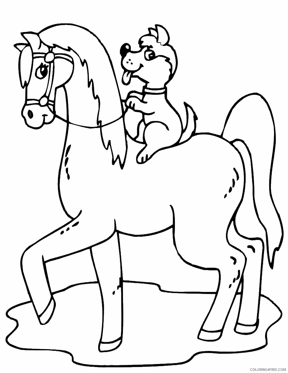 Horses Coloring Pages Animal Printable Sheets horses_cl_19 2021 2787 Coloring4free