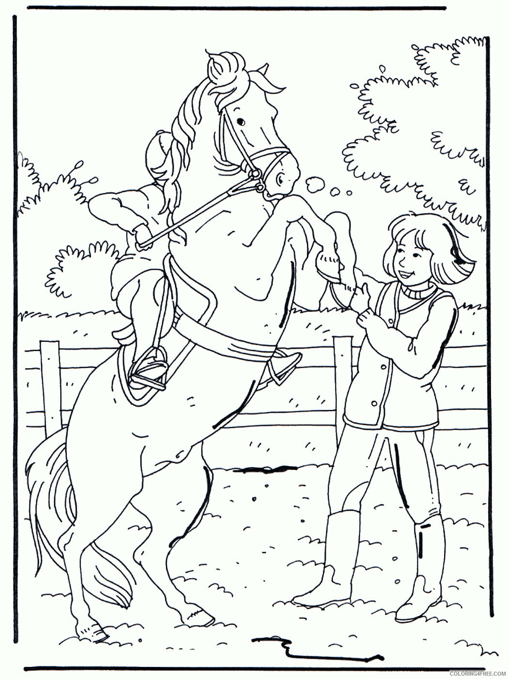 Horses Coloring Pages Animal Printable Sheets horses_cl_40 2021 2793 Coloring4free