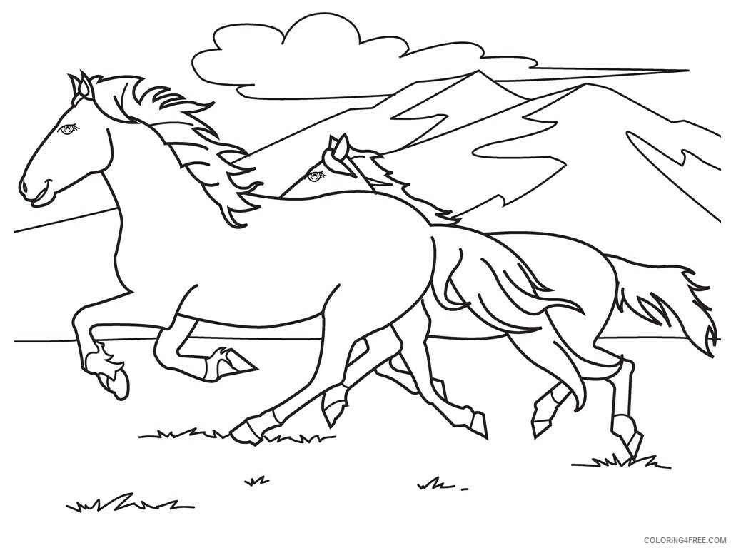 Horses Coloring Pages Animal Printable Sheets horses_cl_43 2021 2794 Coloring4free