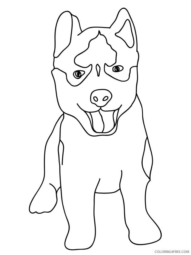 Husky Coloring Pages Animal Printable Sheets Baby Husky 2021 2833 Coloring4free