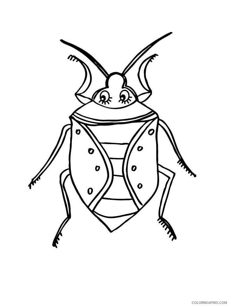 Insect Coloring Pages Animal Printable Sheets Insect 42 2021 2882 Coloring4free