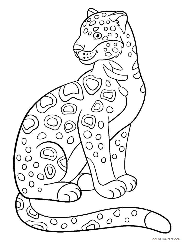 Jaguar Coloring Pages Animal Printable Sheets jaguar 2 2021 2910 Coloring4free