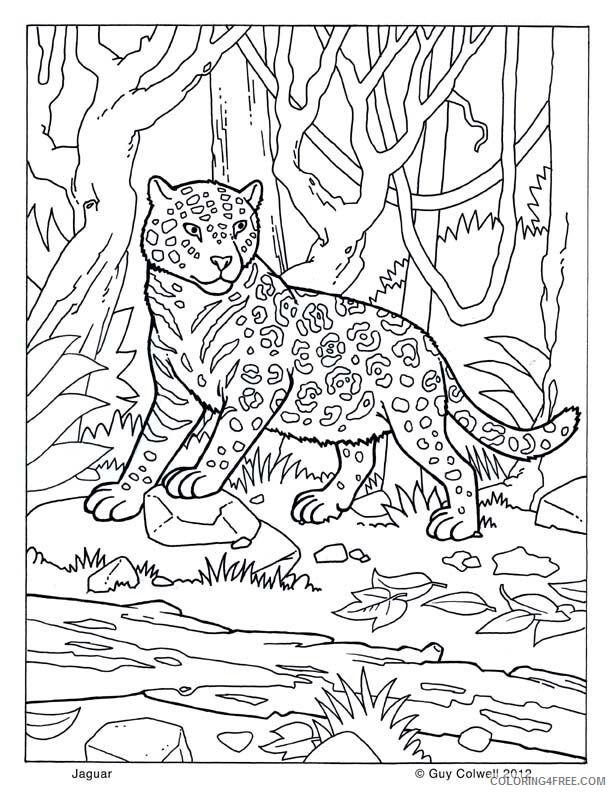 Jaguar Coloring Sheets Animal Coloring Pages Printable 2021 2568 Coloring4free