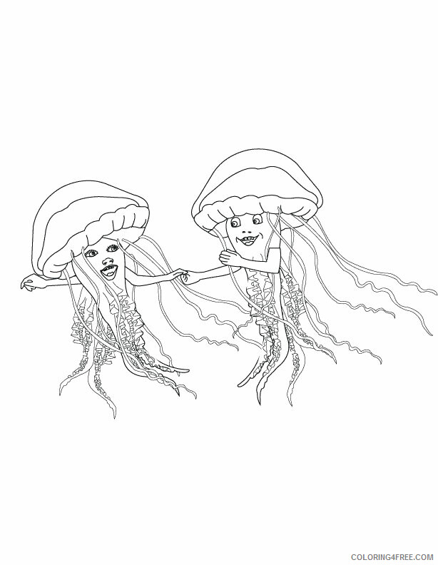 Jellyfish Coloring Sheets Animal Coloring Pages Printable 2021 2596 Coloring4free